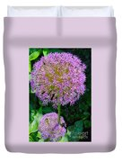 Globe Thistle Flowers Duvet Cover