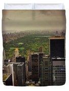 Gloomy Central Park Duvet Cover