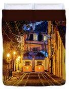 Gloria Funicular, Lisbon, Portugal Duvet Cover