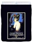 Gloria Swanson In Her Husband's Trademark 1922 Duvet Cover