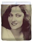 Gloria Swanson, Vintage Actress Duvet Cover