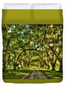Glorious Entrance Tomotley Plantation South Carolina  Duvet Cover