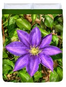 Glorious Glowing Clematis Duvet Cover