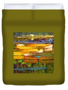 Glorious Morning Lilies Duvet Cover