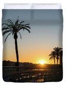 Glorious Sevillian Sunset With Palms Duvet Cover