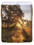 Glorious Sunrise At The Oak Tree Duvet Cover