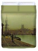 Gloucester Docks Duvet Cover by John Atkinson Grimshaw