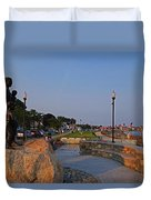 Gloucester Waterfront Gloucester Harbor Duvet Cover