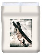 Glow Crucifix I Duvet Cover