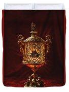 Glowing Antique Lantern Duvet Cover