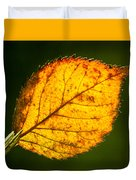 Glowing Autumn Leaf Duvet Cover
