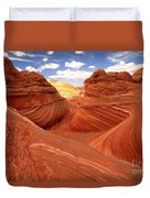 Glowing Butte At The Wave Duvet Cover