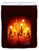 Glowing Chandelier Duvet Cover