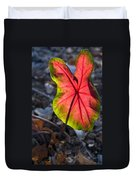 Glowing Coladium Leaf Duvet Cover