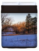 Glowing Cottonwoods Duvet Cover