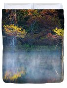 Glowing Cypresses Duvet Cover