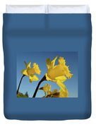 Glowing Daffodil Flowers Floral Art Baslee Troutman Duvet Cover