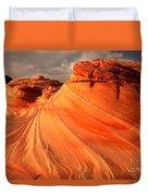 Glowing Desert Dragon Duvet Cover