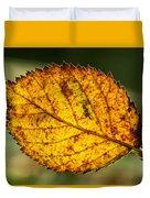 Glowing Fall Leaf Duvet Cover