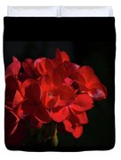 Glowing Flower In The Dark Duvet Cover