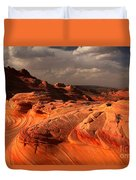 Glowing Flying Dragon Duvet Cover