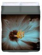 Glowing Hibiscus Duvet Cover