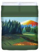 Glowing Hill Duvet Cover
