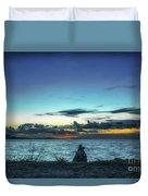 Glowing Horizon Duvet Cover