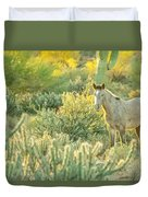 Glowing In The Wild Duvet Cover