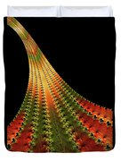 Glowing Leaf Of Autumn Abstract Duvet Cover