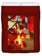 Glowing Red Duvet Cover