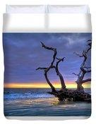 Glowing Sands At Driftwood Beach Duvet Cover