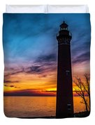Glowing Sky At Little Sable Duvet Cover