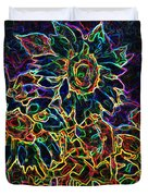 Glowing Sunflowers Duvet Cover