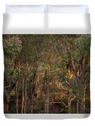 Glowing Trees Duvet Cover
