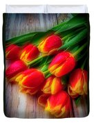 Glowing Tulips Duvet Cover