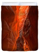 Glowing Walls Of Buckskin Gulch Duvet Cover