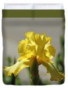 Glowing Yellow Iris Duvet Cover