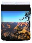 Gnarled Juniper On Canyon Rim Duvet Cover