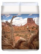 Gnarled Tree At Monument Valley  Duvet Cover