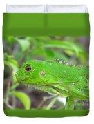 Go Iguana Green Duvet Cover