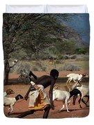 Goat Chase Duvet Cover