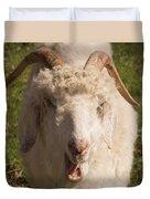 Goat Eating Duvet Cover