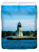 Goat Island Light House Duvet Cover