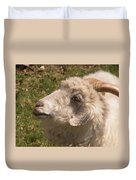 Goat Looking Up. Duvet Cover