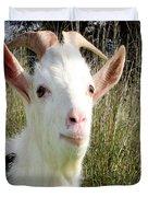 Goat Portrait Duvet Cover