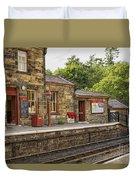 Goathland Railway Station, Train Station From Harry Potter Duvet Cover