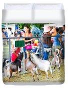 Goats At County Fair Duvet Cover