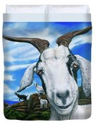 Goats Of St. Martin Duvet Cover
