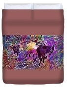 Goats Wildpark Poing Young Animals  Duvet Cover